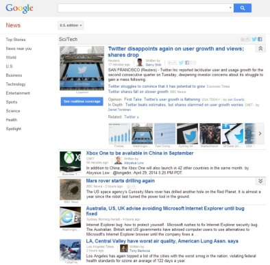 Google Sci Tech
